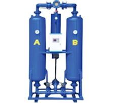 Secador de ar comprimido por adsorção com regeneração a quente
